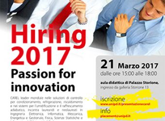 Hiring 2017 – Passion for Innovation
