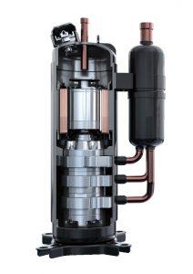 VRF Triple Rotary compressor